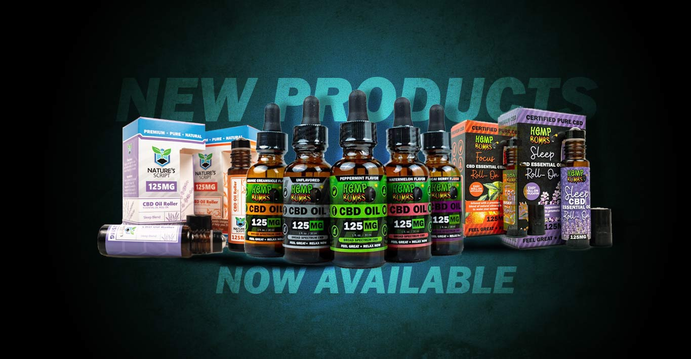 New CBD Product Release | New Flavors & Essential Oils