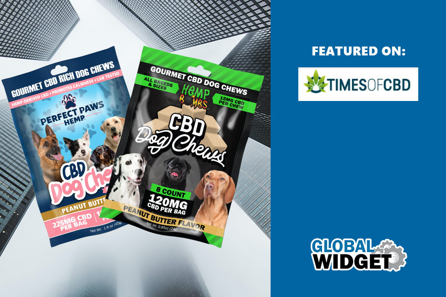 Global Widget's new CBD Dog Chews featured on Times of CBD